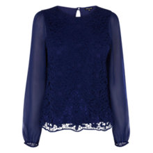 Buy Warehouse Guipure Lace Top Online at johnlewis.com