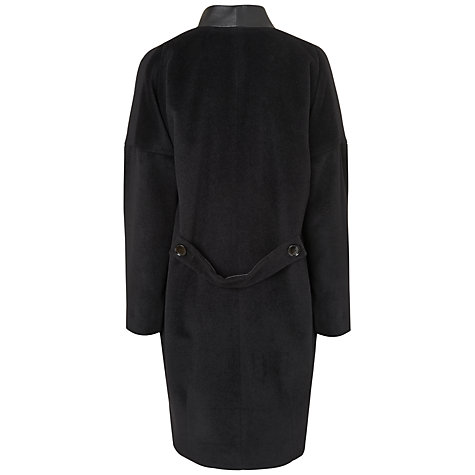 Buy Jaeger Drop Shoulder Coat, Black Online at johnlewis.com
