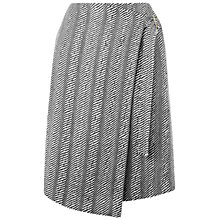 Buy Jaeger Linton Monochrome Skirt, Black Online at johnlewis.com