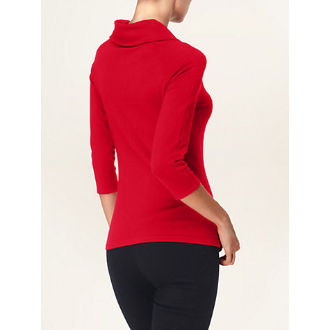 Buy Phase Eight Bronte Bardot Top, Red Online at johnlewis.com