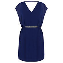 Buy Warehouse Chain Dress, Blue Online at johnlewis.com