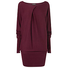 Buy Phase Eight Pheobe Pleat Neck Jumper, Wine Online at johnlewis.com