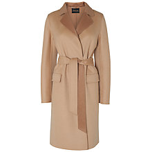 Buy Jaeger Double Faced City Coat, Light Beige Online at johnlewis.com