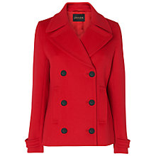 Buy Jaeger Short Pea Coat, Red Online at johnlewis.com