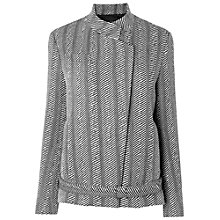 Buy Jaeger Linton Monochrome Herringbone Jacket, Black Online at johnlewis.com