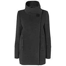 Buy Jaeger Short Wool Angora Cocoon Wrap Coat, Charcoal Online at johnlewis.com