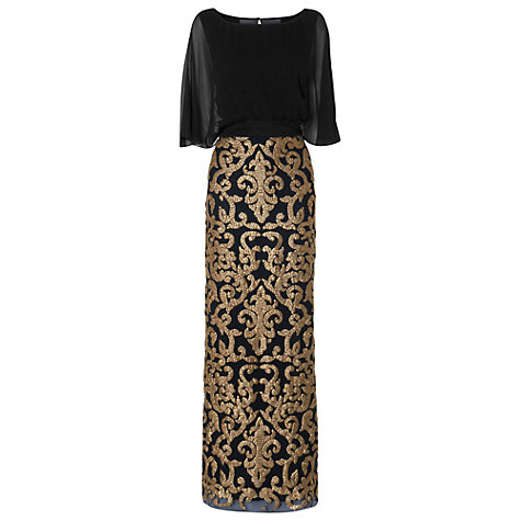 Buy Phase Eight Collection 8 Noto Sequin Dress, Black/Gold Online at johnlewis.com