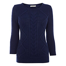 Buy Oasis Angora-Blend Jumper, Navy Online at johnlewis.com