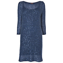 Buy Phase Eight Daria Sequin Tunic Dress, Petrol Online at johnlewis.com
