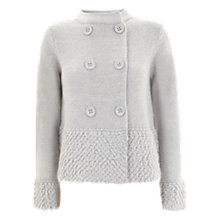 Buy Mint Velvet Loopy Hem Cardigan, Silver Grey Online at johnlewis.com