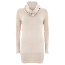 Buy Mint Velvet Cowl Neck Tunic Jumper, Neutrals Online at johnlewis.com