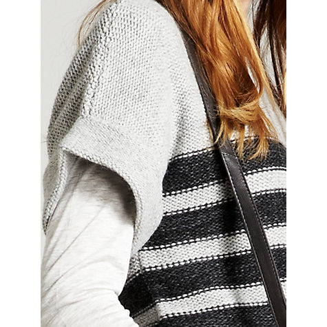Buy Mint Velvet Stripe Tabard, Grey/Ink Online at johnlewis.com