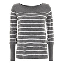 Buy Mint Velvet Button Back Jumper, Grey Online at johnlewis.com