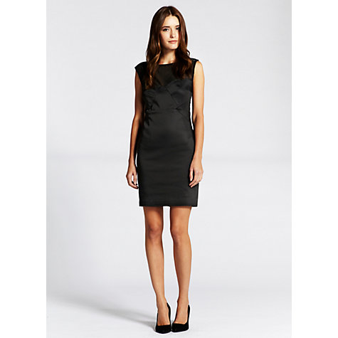 Buy Mint Velvet Mesh Panel Dress, Black Online at johnlewis.com
