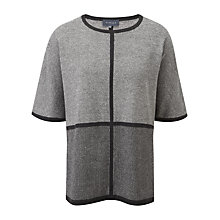Buy Viyella Blocked Poncho, Graphite Online at johnlewis.com
