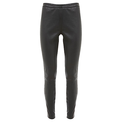 Buy Mint Velvet Leather Leggings, Black Online at johnlewis.com