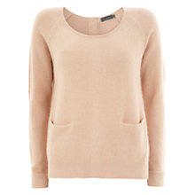 Buy Mint Velvet Button Pocket Jumper, Camel Online at johnlewis.com