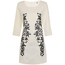Buy True Decadence Baroque Bodycon Dress, Black/Cream Online at johnlewis.com