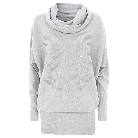 Buy Mint Velvet Sequin Jumper, Grey Online at johnlewis.com