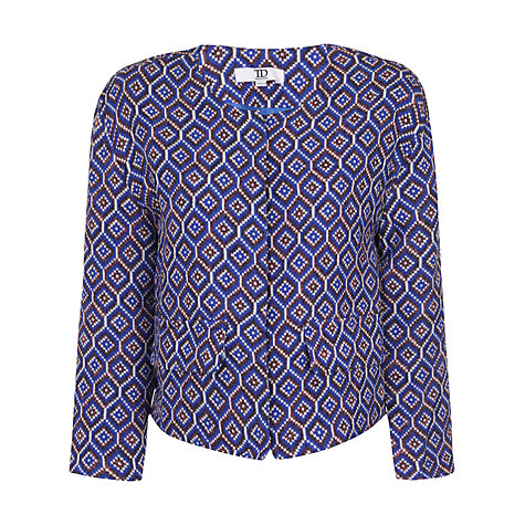 Buy True Decadence Cropped Jacket, Blue Diamond Online at johnlewis.com