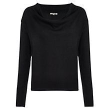 Buy Jigsaw Merino Suede Trim Jumper Online at johnlewis.com