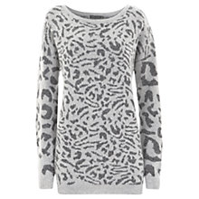 Buy Mint Velvet Textured Knit Top, Grey Online at johnlewis.com