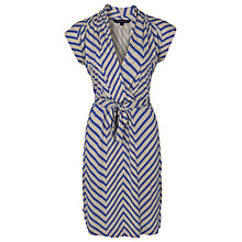 Buy French Connection Ziggy Jersey Tie Waist Dress, Biscuit/Balm Blue Online at johnlewis.com