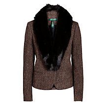 Buy Lauren by Ralph Lauren Shawl-Collar Tweed Jacket, Black Multi Online at johnlewis.com