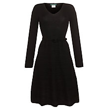 Buy Lauren by Ralph Lauren Belted V-Neck Dress, Black Online at johnlewis.com