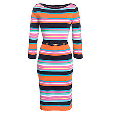 Buy Lauren Ralph Lauren Striped Boatneck Belted Dress, Multi Online at johnlewis.com