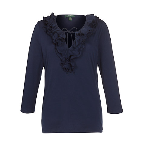 Buy Lauren by Ralph Lauren Ruffled V-Neck Top Online at johnlewis.com