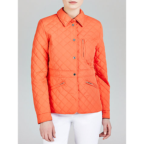 Buy Lauren by Ralph Lauren Peplum Coat, Vivid Coral Online at johnlewis.com