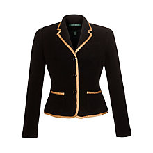 Buy Lauren by Ralph Lauren Metallic-Trim Jacket, Black Online at johnlewis.com
