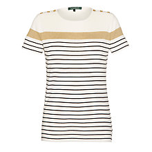 Buy Lauren by Ralph Lauren Striped Cotton T-shirt, Multi Online at johnlewis.com