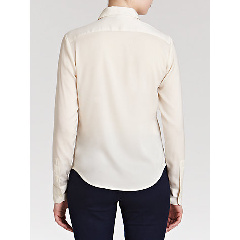 Buy Lauren by Ralph Lauren Satin Tuxedo Shirt, Journey Cream Online at johnlewis.com