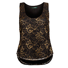 Buy Lauren by Ralph Lauren Gold Lace Top, Gold Lace Online at johnlewis.com