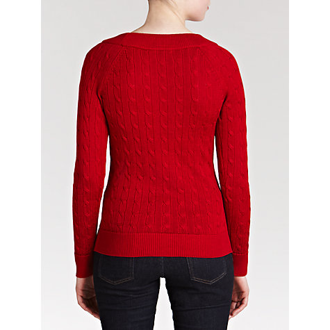 Buy Lauren by Ralph Lauren Cable-Knit Ballet-Neck Sweater Online at johnlewis.com