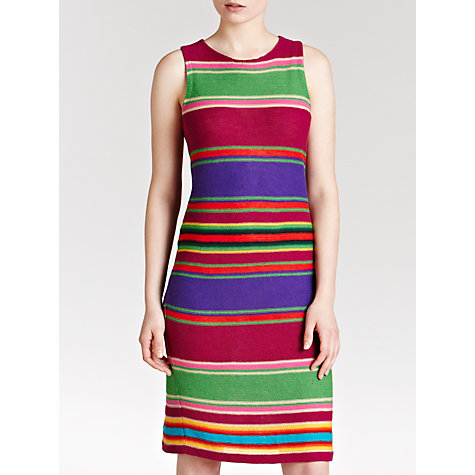Buy Lauren by Ralph Lauren Striped Linen and Cotton Dress, Multi Online at johnlewis.com