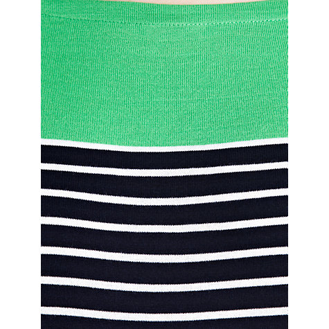 Buy Lauren by Ralph Lauren Striped Drop Shoulder Boatneck Top, Cayman Green Multi Online at johnlewis.com