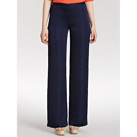 Buy Lauren by Ralph Lauren Wide leg Trousers, Capri Navy Online at johnlewis.com