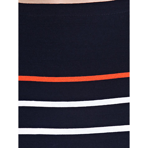 Buy Lauren Ralph Lauren Striped Cotton Boatneck Dress, Capri Navy/White/Vivid Coral Online at johnlewis.com