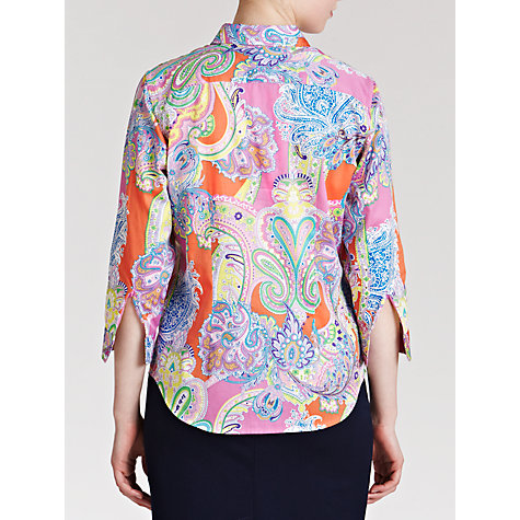 Buy Lauren by Ralph Lauren Paisley Cotton Workshirt, Coral Multi Online at johnlewis.com