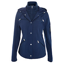 Buy Lauren by Ralph Lauren Snapped Hooded Jacket, Capri Navy Online at johnlewis.com