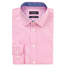 Buy John Lewis Bengal Stripe Tailored Non-Iron Shirt, Pink Online at johnlewis.com
