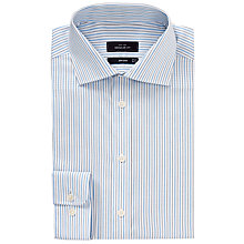 Buy John Lewis Twill Stripe Non-Iron XL Sleeve Shirt Online at johnlewis.com