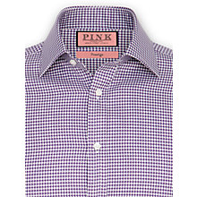 Buy Thomas Pink Maxse Texture XL Sleeve Shirt, White/Purple Online at johnlewis.com
