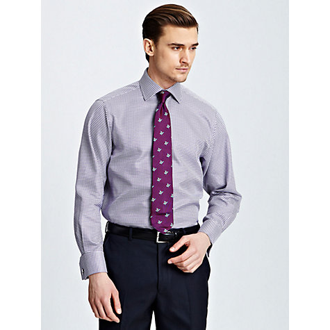 Buy Thomas Pink Maxse Texture Long Sleeve Shirt, White/Purple Online at johnlewis.com