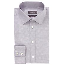 Buy John Lewis Tailored Fit Dobby Pindot Non-Iron Shirt, Grey Online at johnlewis.com