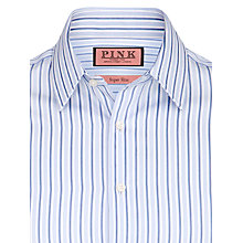 Buy Thomas Pink Lentaigne Stripe Shirt, White/Blue Online at johnlewis.com