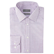 Buy John Lewis Grid Check Tailored Non-Iron XL Sleeve Shirt Online at johnlewis.com